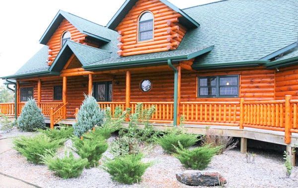 Kush Oil Based Log Home Stain, Deck & Siding Wood Finish - FREE SHIPPING over $75
