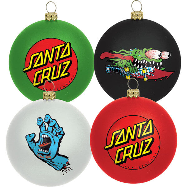 Christmas Santa Cruz Ornaments 4-Pack