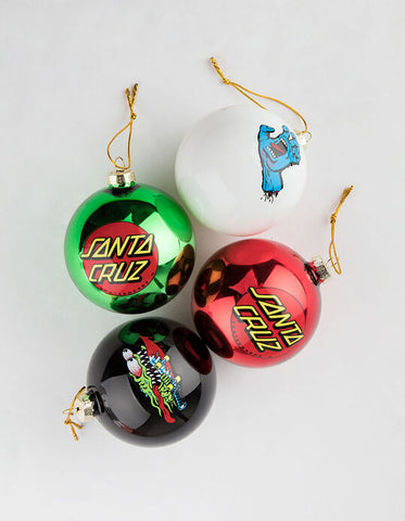 SANTA CRUZ ORNAMENTS 4-PACK