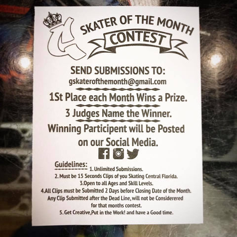 Galactic G Skater of the Month Contest