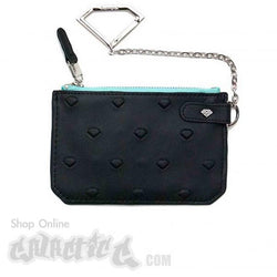 Diamond Embossed Chain Wallet