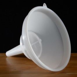 "12"" Plastic Funnel W/Straining Screen"