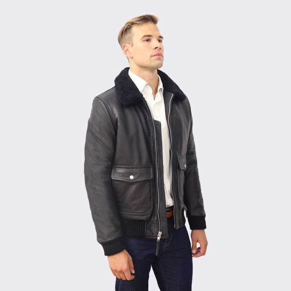 65 Mercer St. Leather Bomber