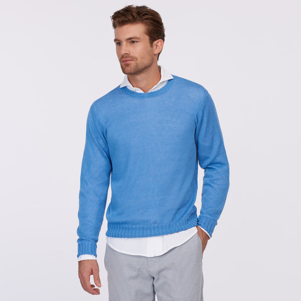 Crew Neck Sweater – Blue
