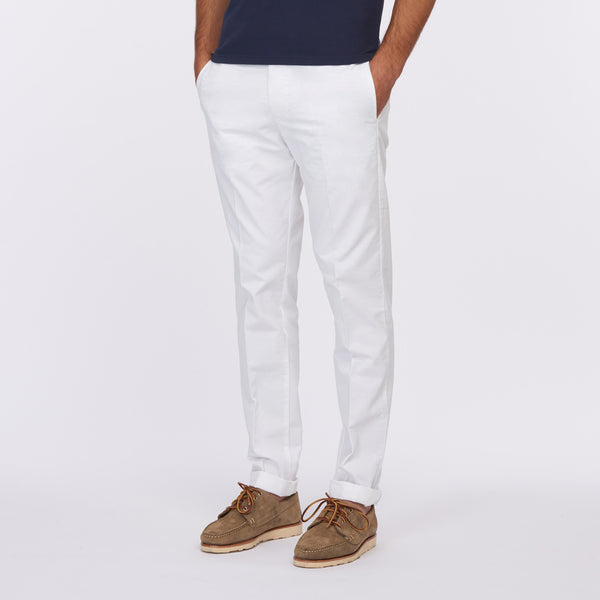 Cremieux 65 Mercer St. New Yorker Chino Pant – White
