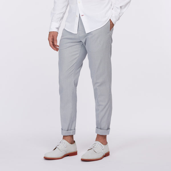 Cremieux 65 Mercer St. New Yorker Pant – Blue/White Stripe