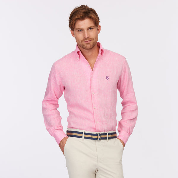 65 Mercer St. One Piece Button Down Collar Shirt – Pink
