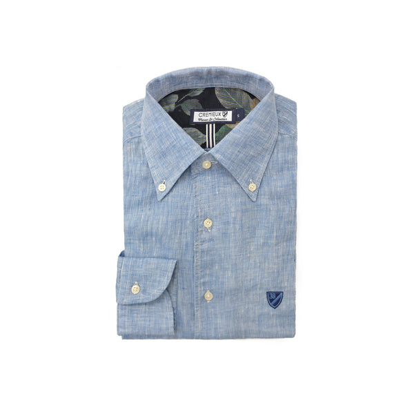 65 Mercer St. One Piece Button Down Collar Shirt – Sky