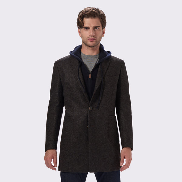 65 Mercer St. Loro Piana Wool Overcoat - brown heather
