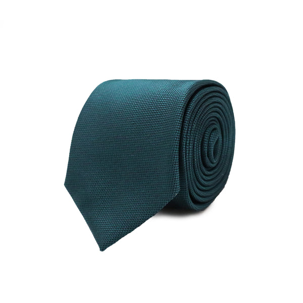 Woven tie - teal