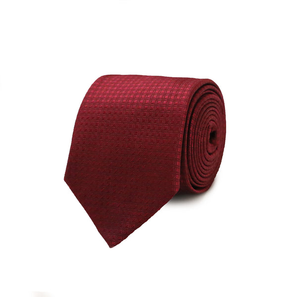 Double stripe tie - red