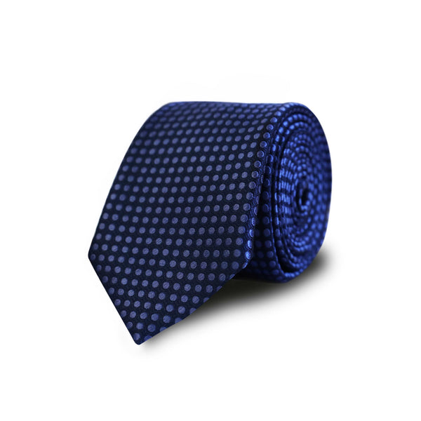 Big dots tie - blue