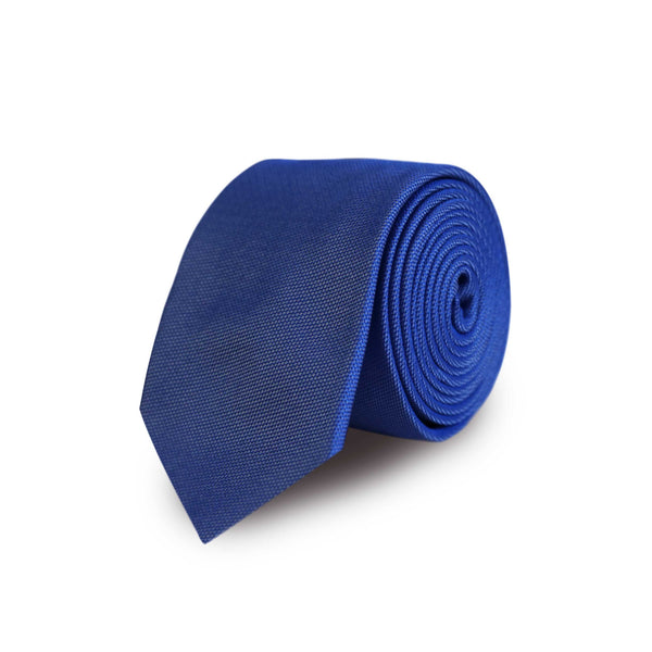 Solid woven tie - sky blue