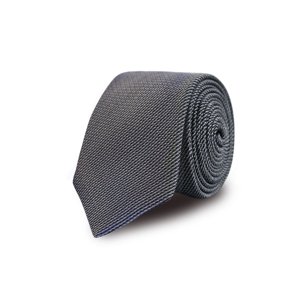 Jacquard bias stripes tie - light grey