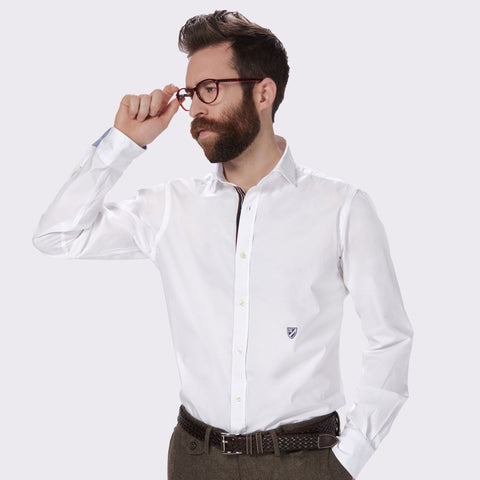65 Mercer st. solid poplin shirt - White