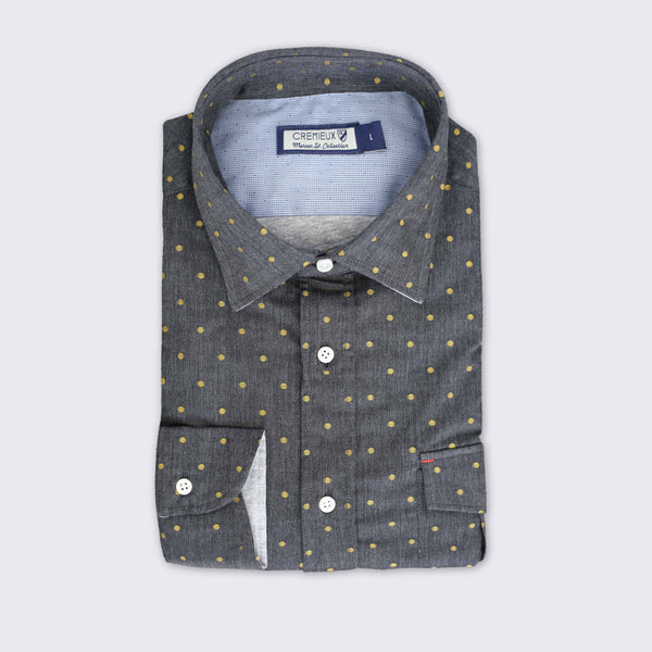 65 Mercer St. Dots Shirt - Grey
