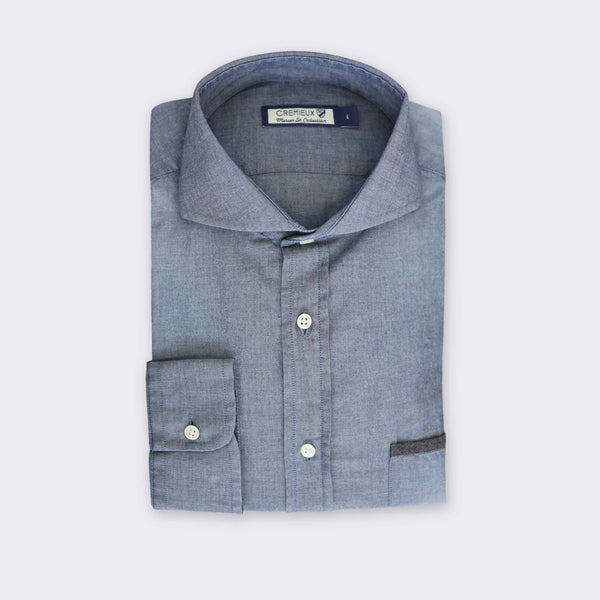65 Mercer St. spread collar shirt - Chambray