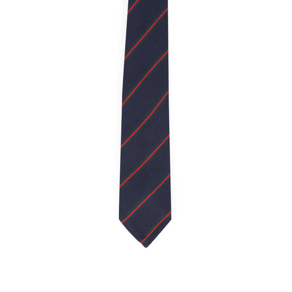 Diagonal regimental tie - navy