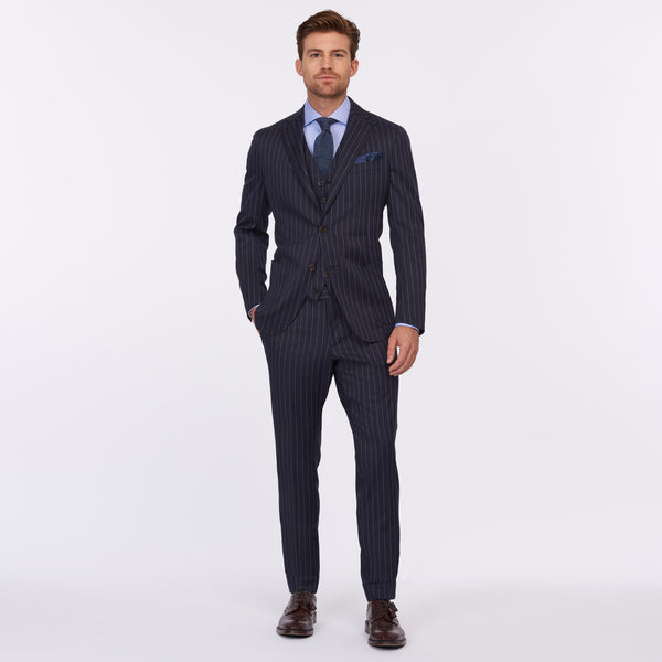Daniel Cremieux Silver Label Suit – Navy Pin Stripe