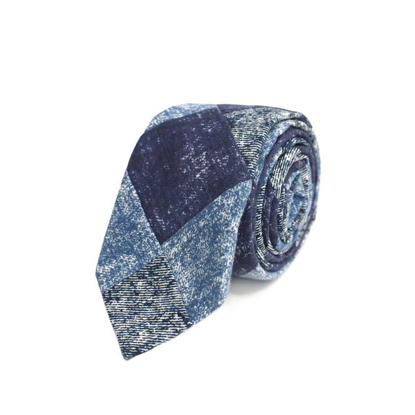 Denim Cotton Tie - Chambray