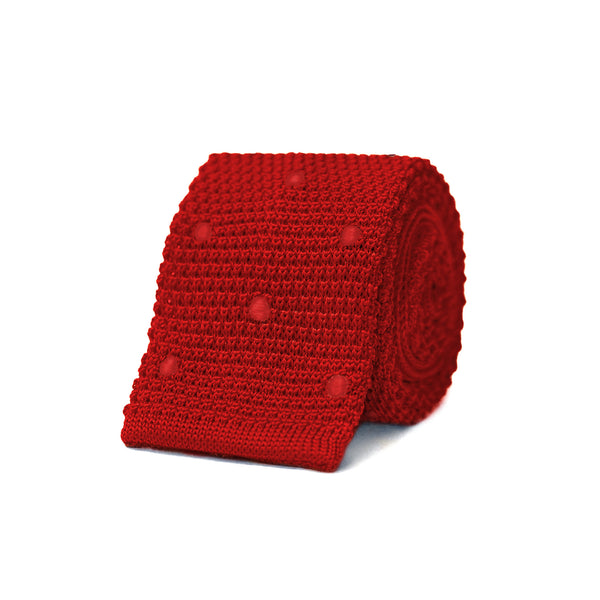 Susy Knit Tie - Red