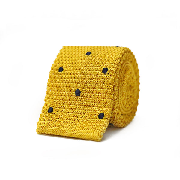 Susy Knit Tie - Yellow