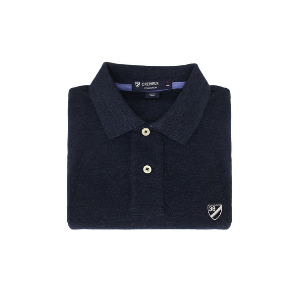 Pique Polo Denim Heather