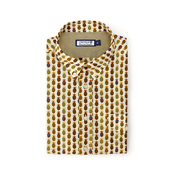 65 Mercer St. New castle Button Down Pineapple Shirt - Yellow