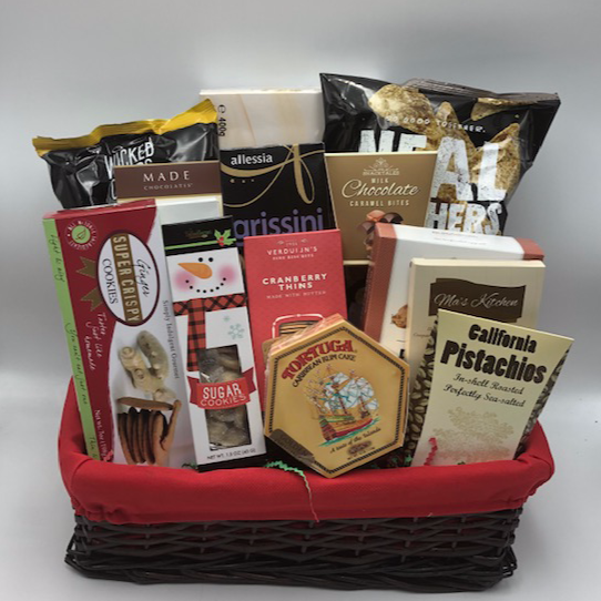 A Jolly Christmas Gift Basket