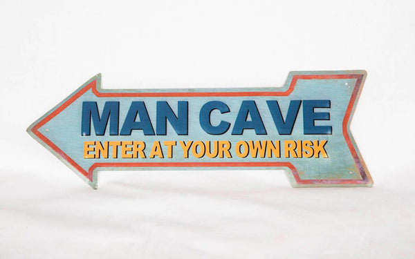 Man Cave Sign - Not Just Baskets