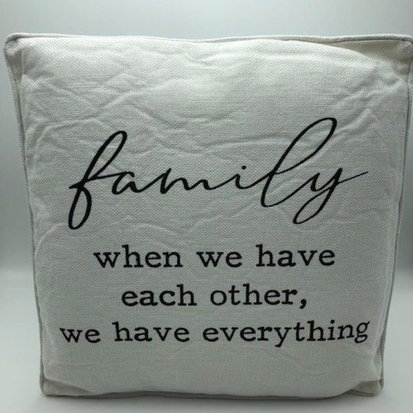 Family Pillow - Not Just Baskets