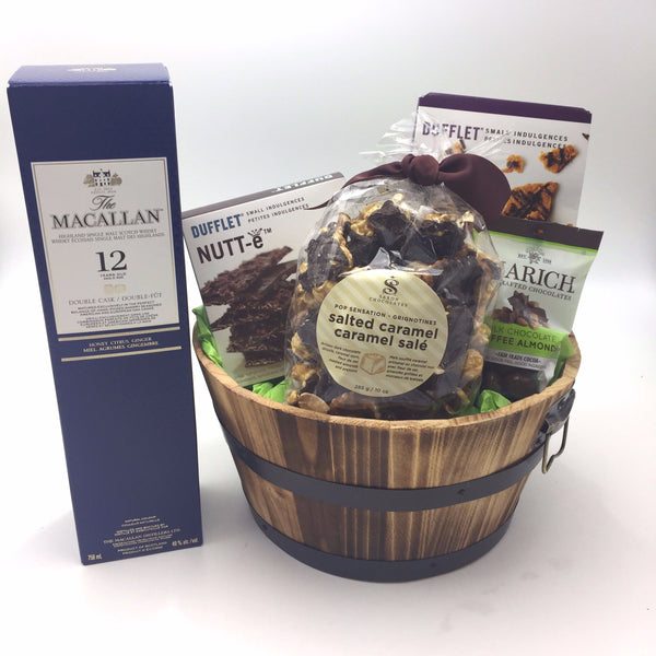 Whisky and Chocolate Gift Basket