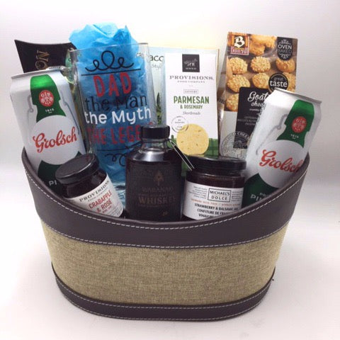 Beer and Snacks Gift Basket