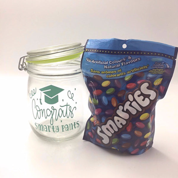 Congrats Smarty Pants Candy jar