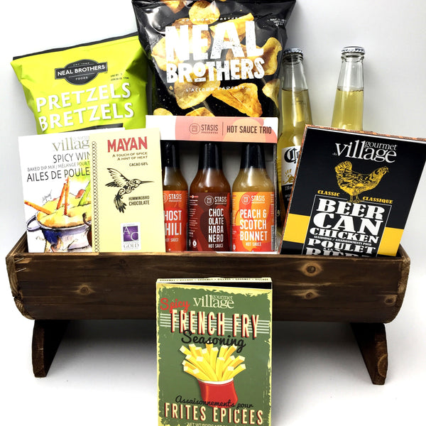 Guys Night In Gift Basket - Not Just Baskets