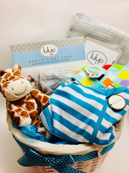 Welcome Sweet Baby Boy Gift Basket - Not Just Baskets