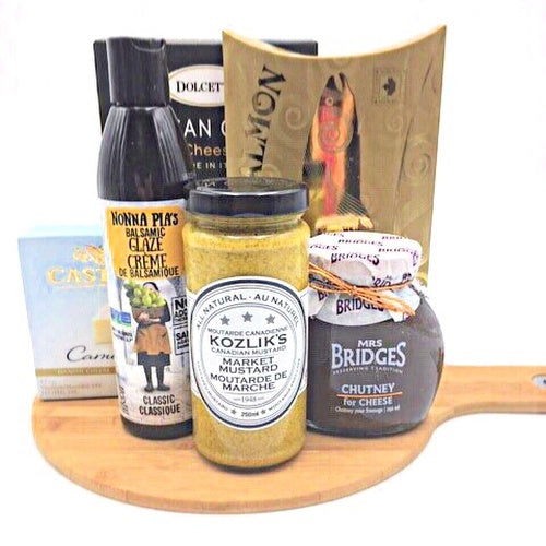Fine Cheese and Crackers Gift Basket - Not Just Baskets