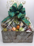 Fruit, Chocolate and Cheese gift Basket - Not Just Baskets