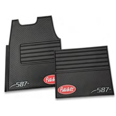 PBL0G0587 – Peterbilt set of rubber floor mats for truck model 587