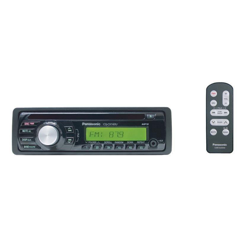 CQCX160U – Panasonic radio with CD/MP3/WMA with front auxiliary input