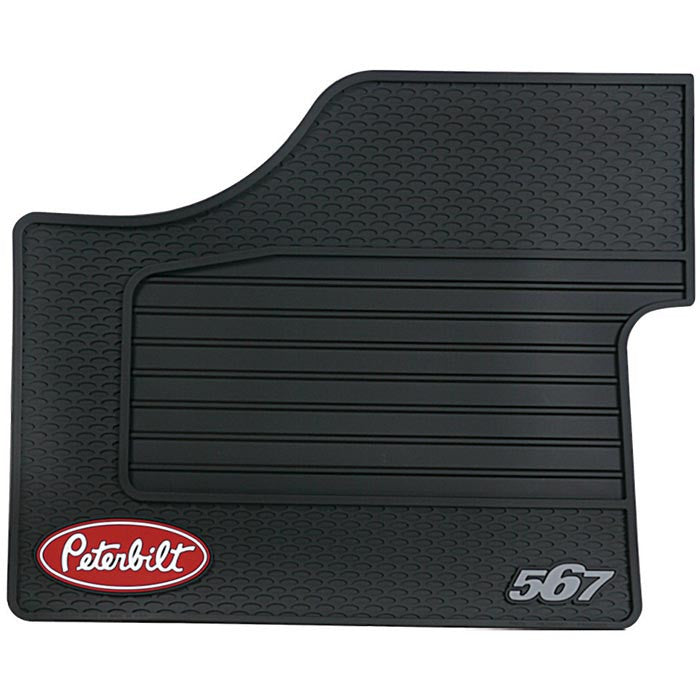 PBL0G0567 – Peterbilt set of rubber floor mats for truck model 567
