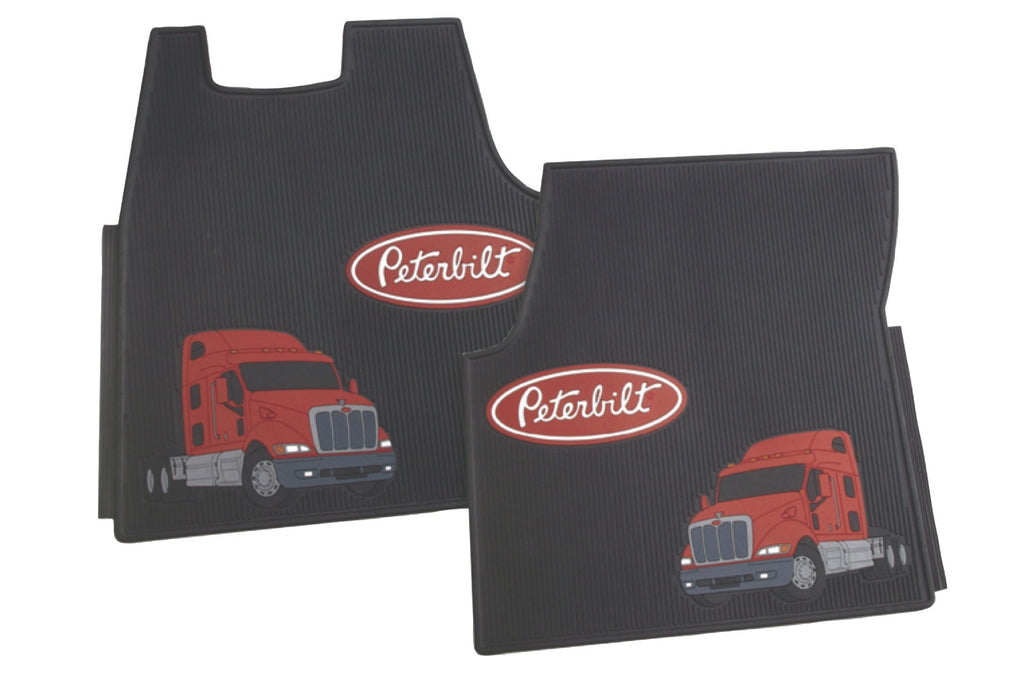 V387 – Peterbilt set of rubber floor mats for truck model 387