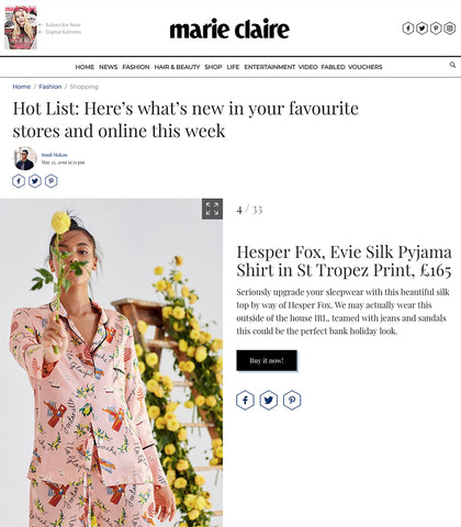Marie Claire - May 2019 - Hot List feature on New Products