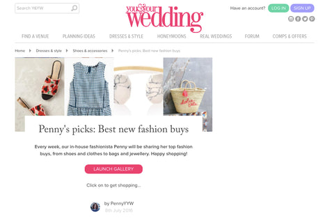 You & Your Wedding. Online fashion guide featuring Hesper Fox Zephyr print Vesper romper.
