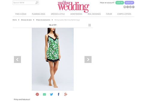 Hesper Fox Zephyr romper. You & Your Wedding online fashion guide.