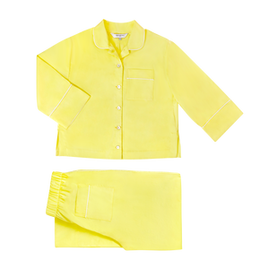 Cleo Yellow Cotton Pyjama Set