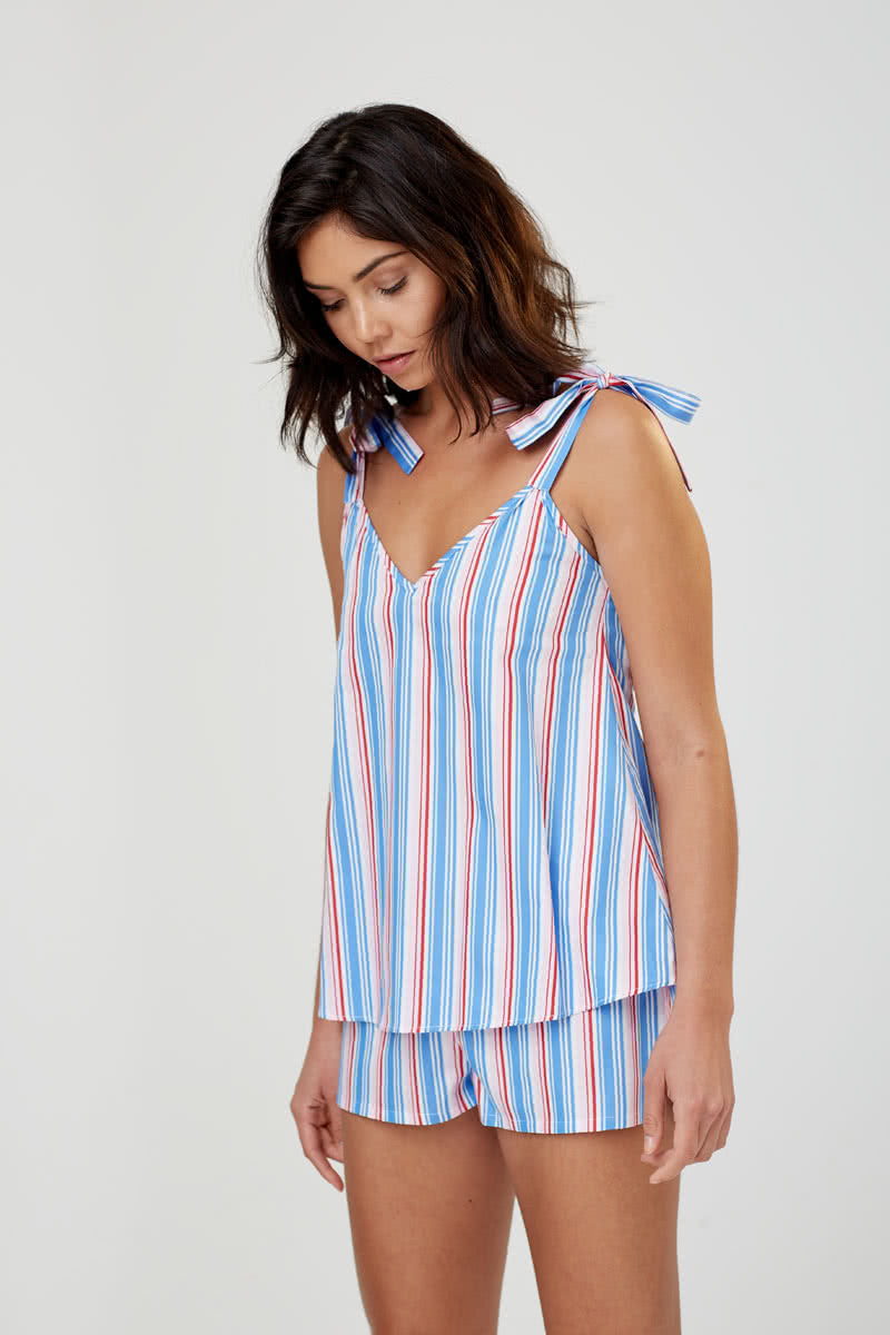 Anais Multi Stripe Cotton Camisole