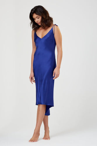 Aurora Silk Nightdress Indigo