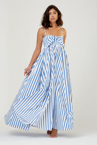 Acacia Dress Blue + White Stripe