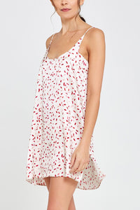 Adeline Shorty Nightdress Confetti Print Front